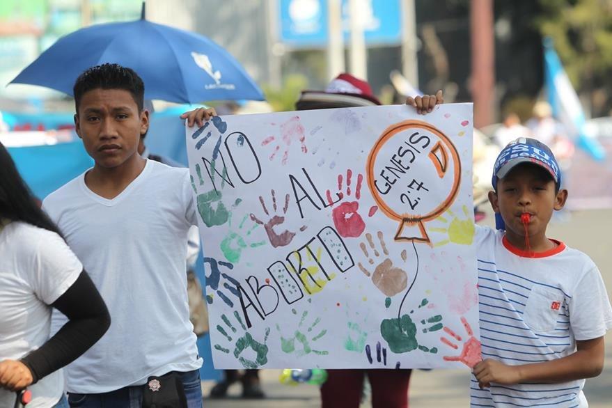 Coordinadora EvangŽélica Nacional marcha en contra del aborto. (Foto Prensa Libre: Hemeroteca PL)