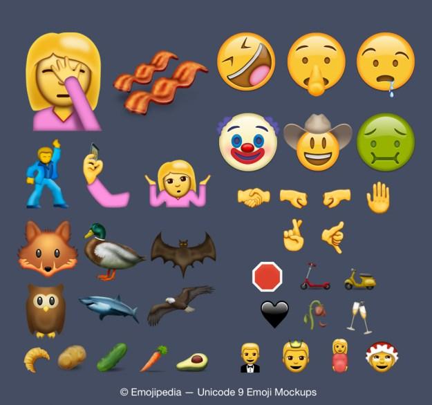 Más de los nuevos emoticones (Foto Prensa Libre: tomada de bgr.com).