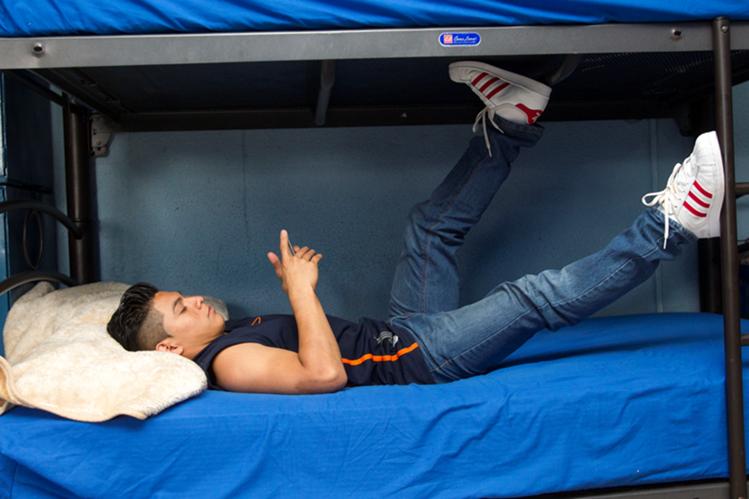 Jorge Vega disfruta sus días en el albergue de la Federación Nacional de Gimnasia. (Foto Prensa Libre: Norvin Mendoza)