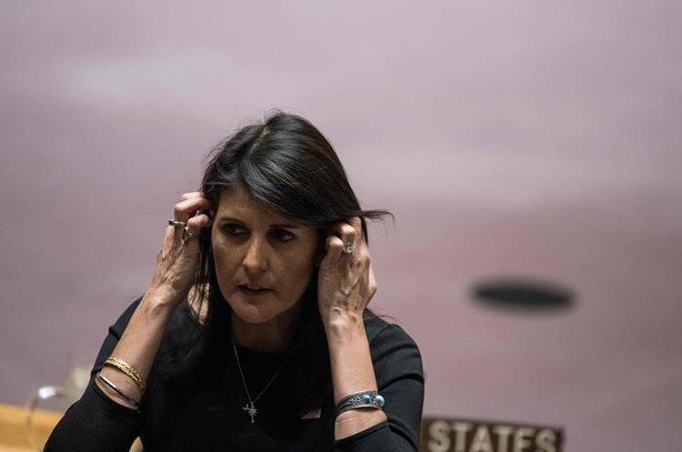 """Nikki Haley, la embajadora de EE. UU. ante la ONU dijo """"no arruinen la música genial con basura"""". (Foto Prensa Libre: Hemeroteca PL)"""