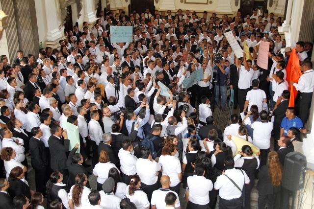 Trabajadores del Congreso renegocian el pacto colectivo, aunque algunos sindicatos protestan por no estar incluidos. (Foto Prensa Libre: Hemeroteca PL)
