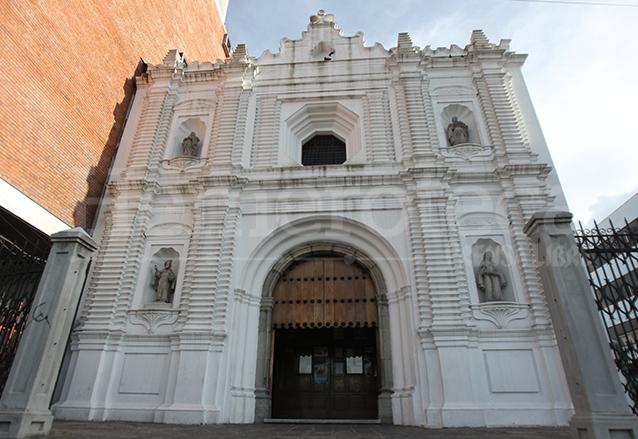 Fachada del Templo de Capuchinas, ubicado en la 10a. avenida y 10a. calle zona 1. (Foto: Hemeroteca PL)