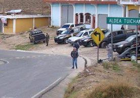 Vecinos de Tuichán, Ixchiguán, habrían llegado a terrenos en disputa lo que generó inconformidad. (Foto Prensa Libre: Whitmer Barrera)