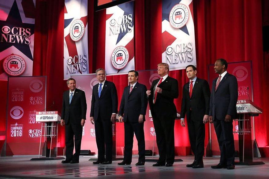 Los repúblicanos protagonizaron un acalorado debate. (Foto Prensa Libre: AFP)