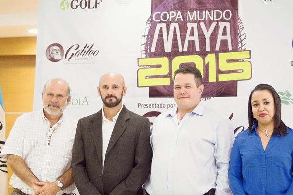 En conferencia de prensa en la Universidad Galileo, dieron a conocer los detalles d de la Copa Mundo Maya (Foto Prensa Libre: Norvin Mendoza)