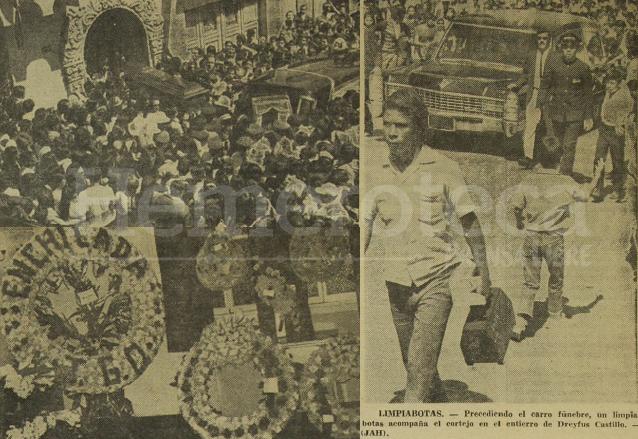 Diferentes aspectos del masivo sepelio de Enchilada en 1971. (Foto: Hemeroteca PL)