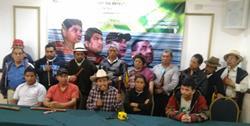 Líderes informan acerca de la situación de los denominados presos políticos de San Pablo, San Marcos. (Foto Prensa Libre: Oscar García).