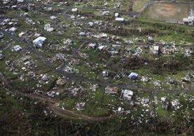 Un barrio de Puerto Rico destruido por el huracán. (Prensa Libre Foto: AP)