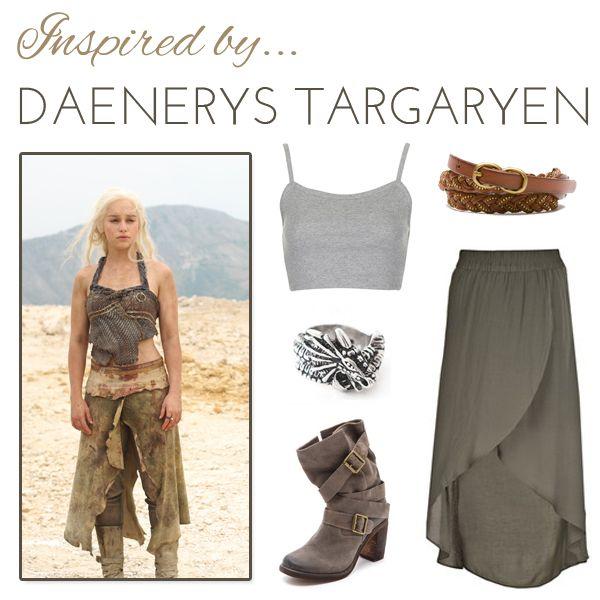 Los vestuarios que utiliza DAenerys en la series usualmente son bastante elaborados. Trata de encontrar similitudes en las prendas que tienes y mantener la paleta de color para lograr un mejor resultado. (Foto Prensa Libre: Pinterest).