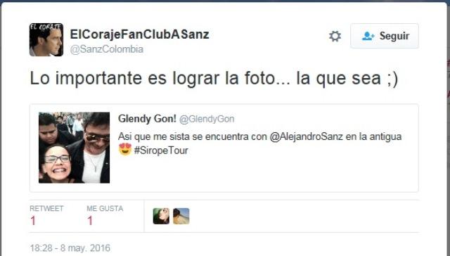Las fotos de Sanz en Guatemala fueron compartidas en las redes sociales. (Foto Prensa Libre: Twitter)