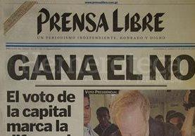 Portada del 17 de mayo de 1999, con titular sobre resultado de la consulta popular. (Foto: Hemeroteca PL)