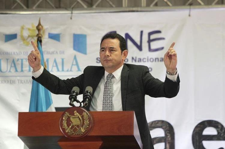 El presidente sancionó las reformas a la Ley de la Carrera Judicial. (Foto Prensa Libre: Hemeroteca PL)