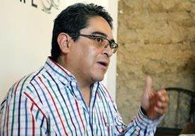 Jordán Rodas, durante la conferencia de prensa que ofreció en Quetzaltenango este domingo. (Foto Prensa LIbre: Carlos Ventura)