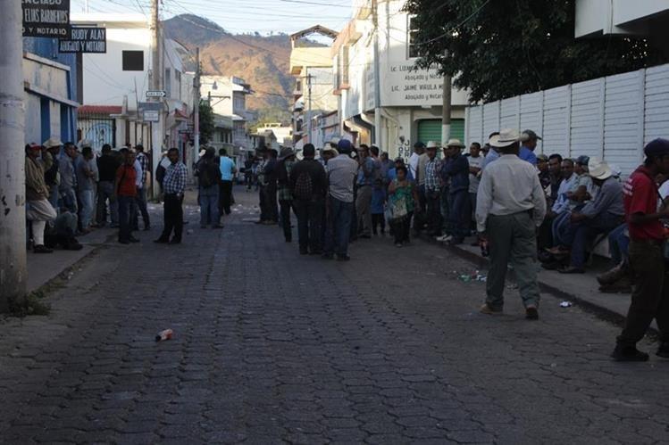 Área donde se registró el incidente entre campesinos que participaron en la elección de directiva Xinca, en Jutiapa. (Foto Prensa Libre: Óscar González).