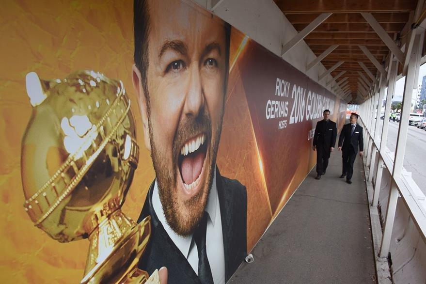 El actor Ricky Gervais será una vez más el anfitrión de la ceremonia. (Foto Prensa Libre: AFP)