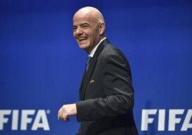 Gianni Infantino, presidente de Fifa. (Foto Prensa Libre: AFP)