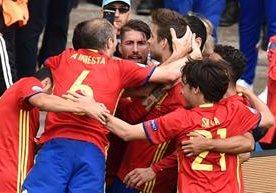 Alegría de la roja en la Euro gracias al gol de Piqué.