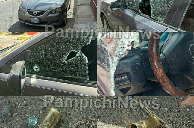 Las víctimas aparentemente habían retirado dinero de un banco de Boca del Monte. (Foto Prensa Libre: Pampichi News)