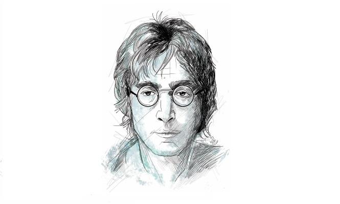 John Lennon sigue vivo en su música y en la memoria de sus seguidores.(Ilustración Prensa Libre. Kevin Ramírez)