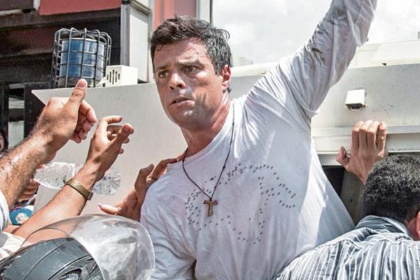 Leopoldo López opositor del Gobierno de Venezuela.