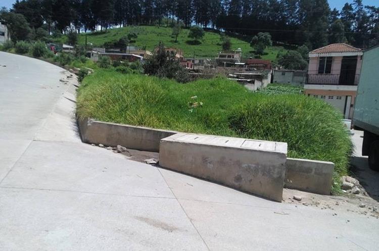 El terreno donde será construido el parque ecológico se halla en un sector de la colonia El Vaquero, Zona 9 de Quetzaltenango. (Foto Prensa Libre: María Longo)