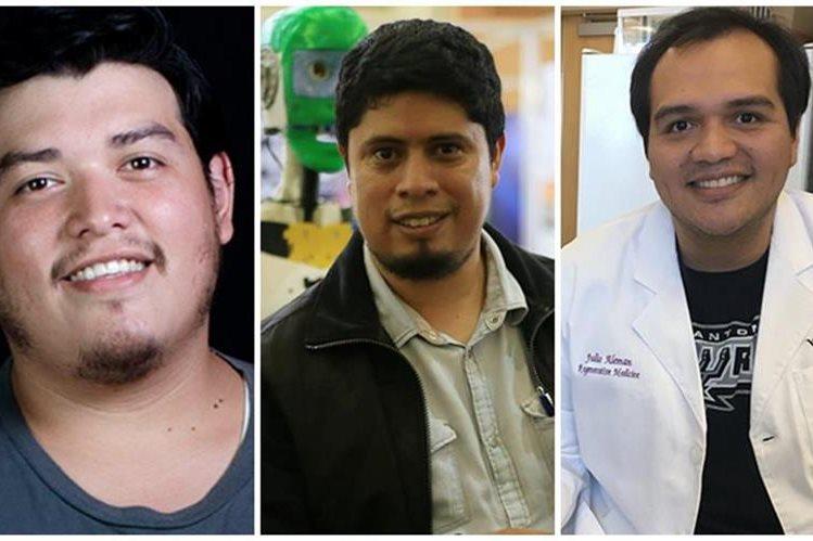 José Rivas, Julio Fajardo y Julio Alemán, emprendedores guatemaltecos. (Foto: Cortesía)