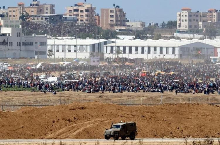 Agencia de Inteligencia israelí aseguró que Hamás, un grupo terrorista, está utilizando a las personas para hacer creer que es un movimiento ciudadano. (Foto Prensa Libre: AFP)