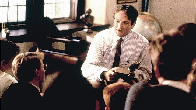 Robin Williams protagonizó la cinta El club de los poetas muertos. (Foto Prensa Libre: Hemeroteca PL)