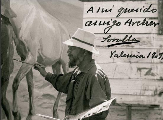 Dedicatoria de Sorolla a su amigo Archer Milton Huntington (Foto Prensa Libre: lacomarcadepuertollano.com)