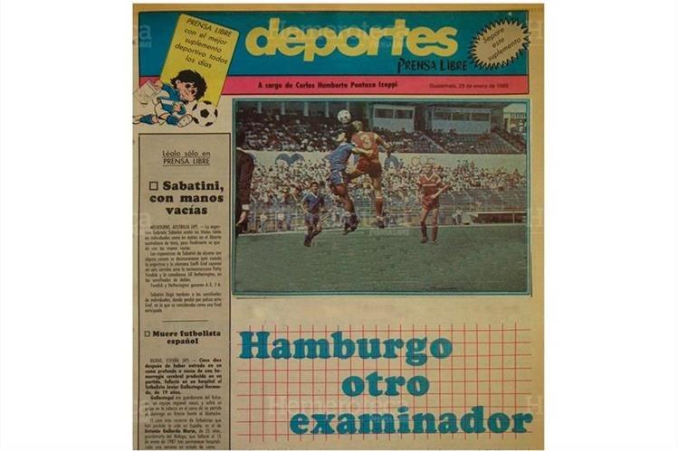 Portada de la sección de Deportes del 30/01/1989. Foto: Hemeroteca PL)