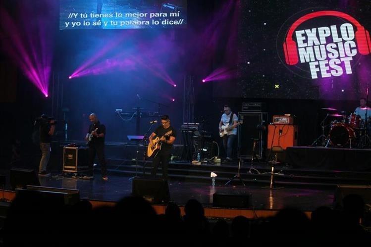 Daniel Calveti abrió el concierto de cierre del Explo Music Fest. (Foto Josué De León)