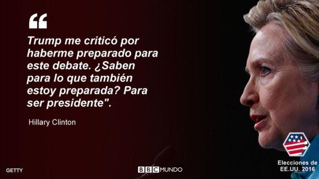 Esta fue una de las citas más celebradas de Hillary Clinton durante el debate presidencial. GETTY