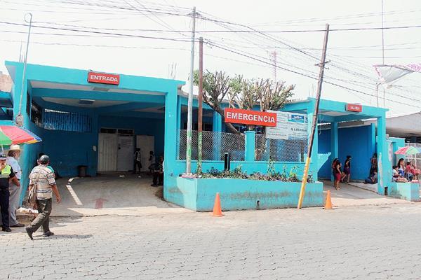 Hospital Regional de Coatepeque, en cuyo ingreso dio a luz una mujer luego de que no fue atendida adecuadamente.  el incidente. (Foto Prensa Libre)