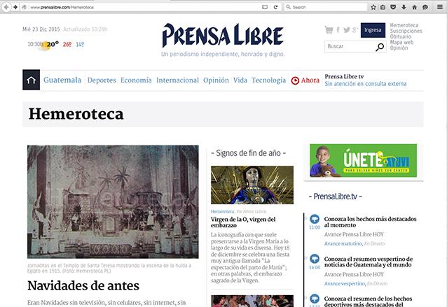 El lector puede disfrutar de los contenidos de la Hemeroteca en la versión impresa y en la web. (Foto: Hemeroteca PL)