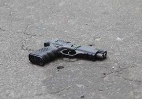 <p>El arma hallada en el lugar.</p>