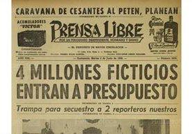Portada del 2/6/1959. El proyecto del presupuesto de ingresos y egresos no contaba con fondos (Foto: Hemeroteca PL)