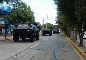 Los vehículos militares blindados, tipo armadillos, serán utilizados para seguridad ciudadana. (Foto Prensa Libre: Ejército de Guatemala)