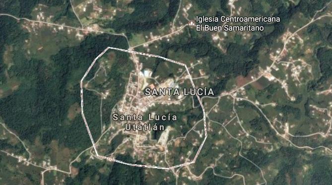 Mapa de Santa Lucía Utatlán, Sololá. (Foto Prensa Libre: Google Maps)
