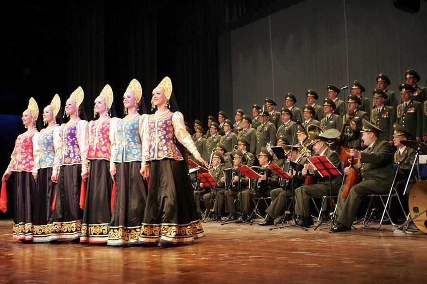 Foto de archivo del coro del Ejército Rojo ruso cuyos miembros iban en avión que cayó al Mar Negro. (AFP)
