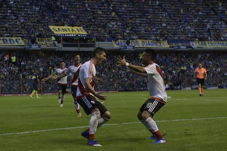 River Plate consiguió una victoria y se mete de nuevo en la pelea por el título. (Foto Prensa Libre: AFP).