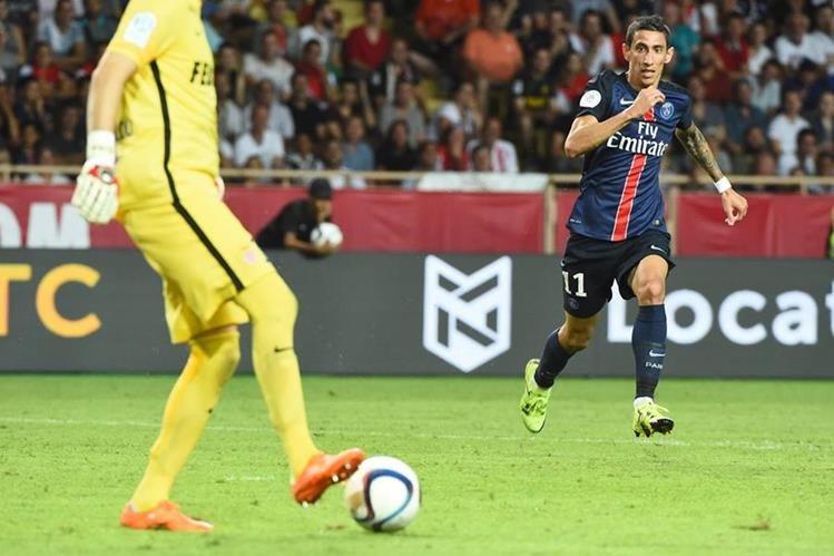 Ángel Di María en su debut con el PSG el pasado fin de semana. (Foto Prensa Libre: EFE)