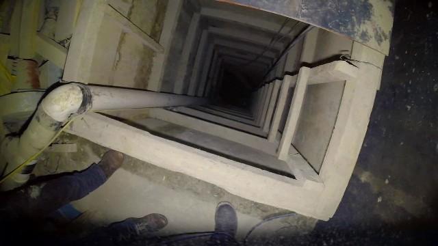 """El túnel por donde huyó el """"Chapo"""" Guzmán medía 1.5 kilómetros. (Foto Prensa Libre: Hemeroteca PL)."""