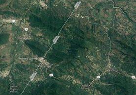 Hombre fue vapuleado en La Mesilla, La Democracia, Huehuetenango. (Foto Prensa Libre: Imagen del satélite)