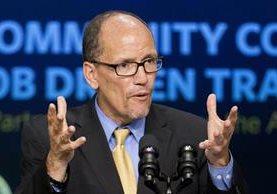 Tom Perez, el hispano que dirigirá el Partido Demócrata. (Foto Prensa Libre: AP).