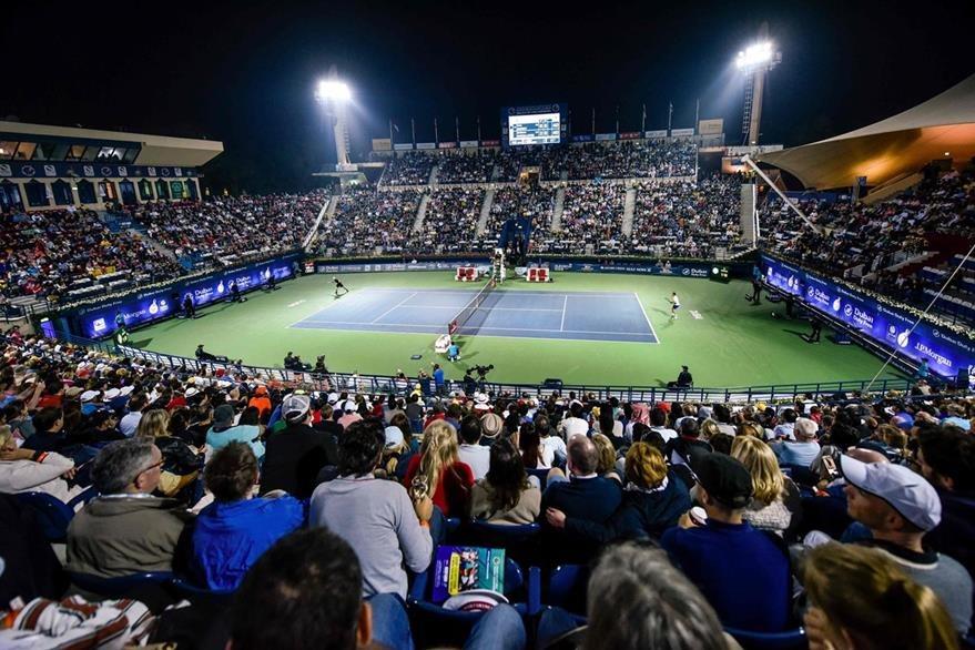 Así lucía la cancha durante el juego de  Andy Murray frente a Guillermo Garcia-López. (Foto Prensa Libre: AFP)