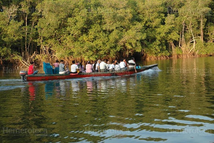 Los turistas disfrutan de la diversidad de fauna y flora que contiene el humedal Manchón Guamuchal, durante un recorrido de 12 kilómetros. (Fotos: Hemeroteca PL)