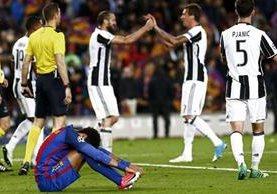 Al finalizar el juego Neymar soltó el llanto y no pudo parar. (Foto Prensa Libre: EFE)