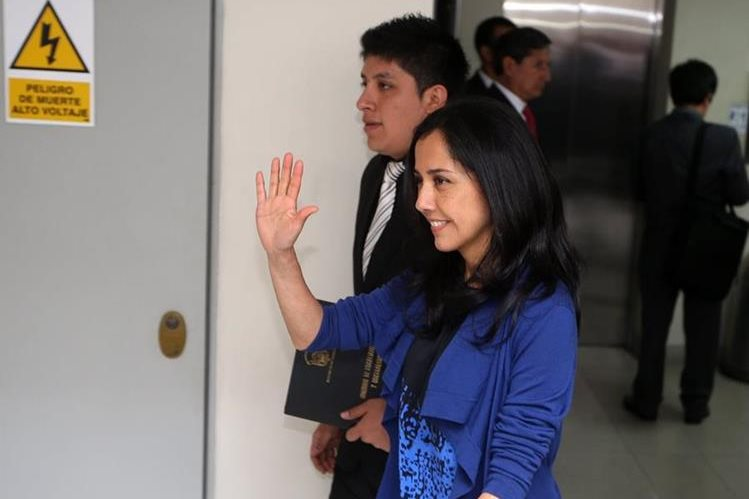 Nadine Heredia, esposa del presidente de Perú. (Foto Prensa Libre: EFE).