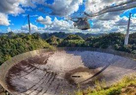 El famoso Observatorio de Arecibo, en Puerto Rico, tiene el telescopio más sensible de la Tierra. GETTY IMAGES