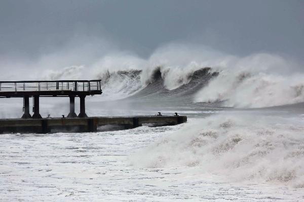 Efectos del ciclón Bejisa en Francia. (Foto Prensa Libre: AFP).